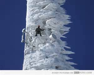ice storm on cell tower